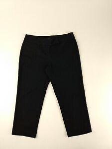 Women-039-s-Ann-Taylor-2-Stretch-Capri-Crop-Pants-Size-0-Petite-XS-Black-28X20