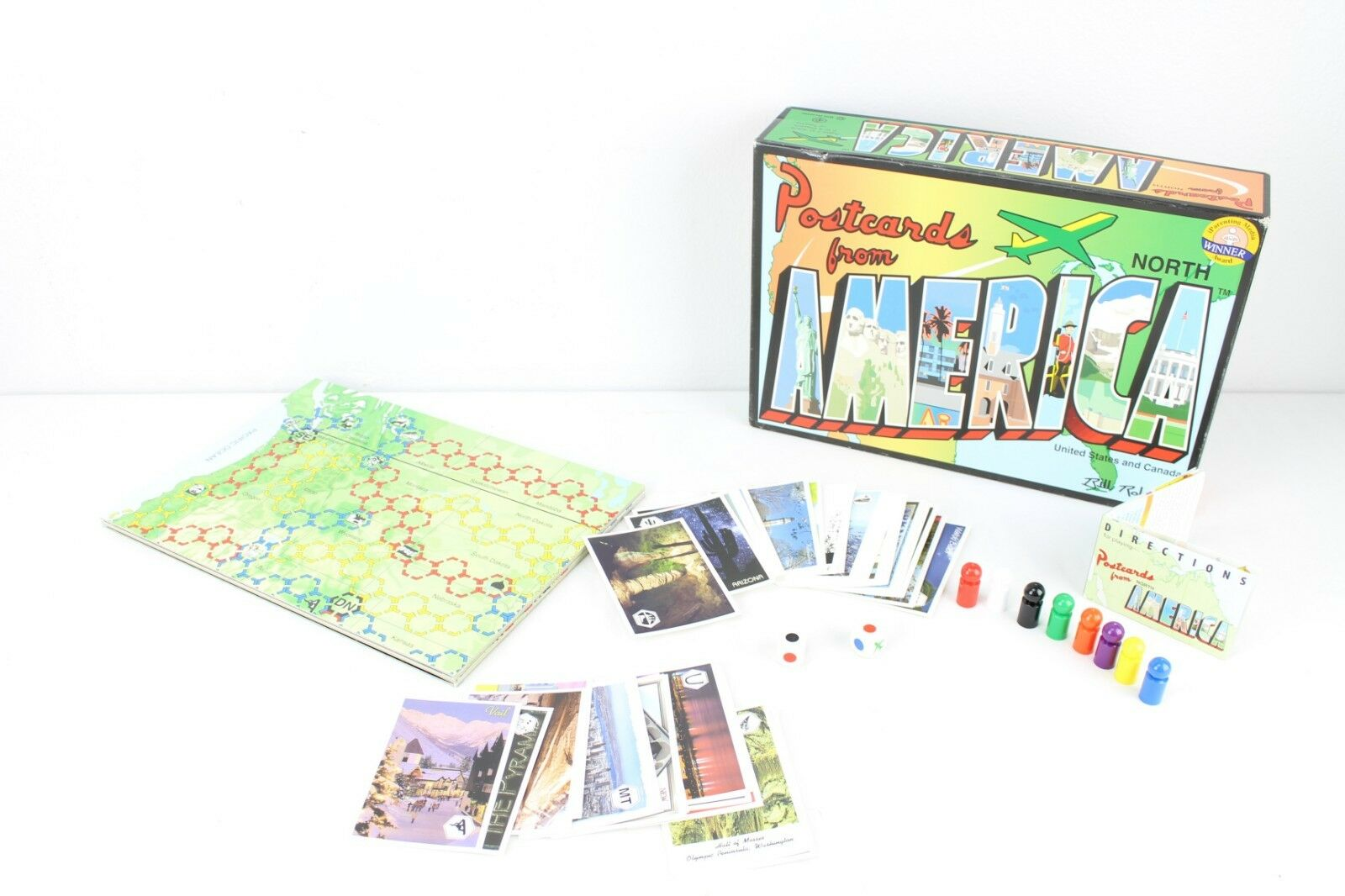 Postcards from North America Board Game Educational Homeschool Complete