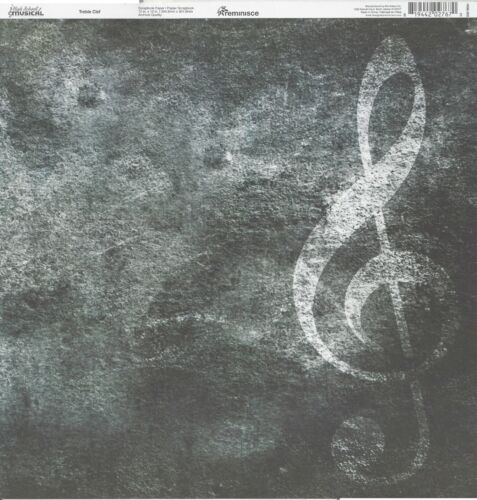 music choir band REM- Trebel Clef Scrapbooking Paper 12x12