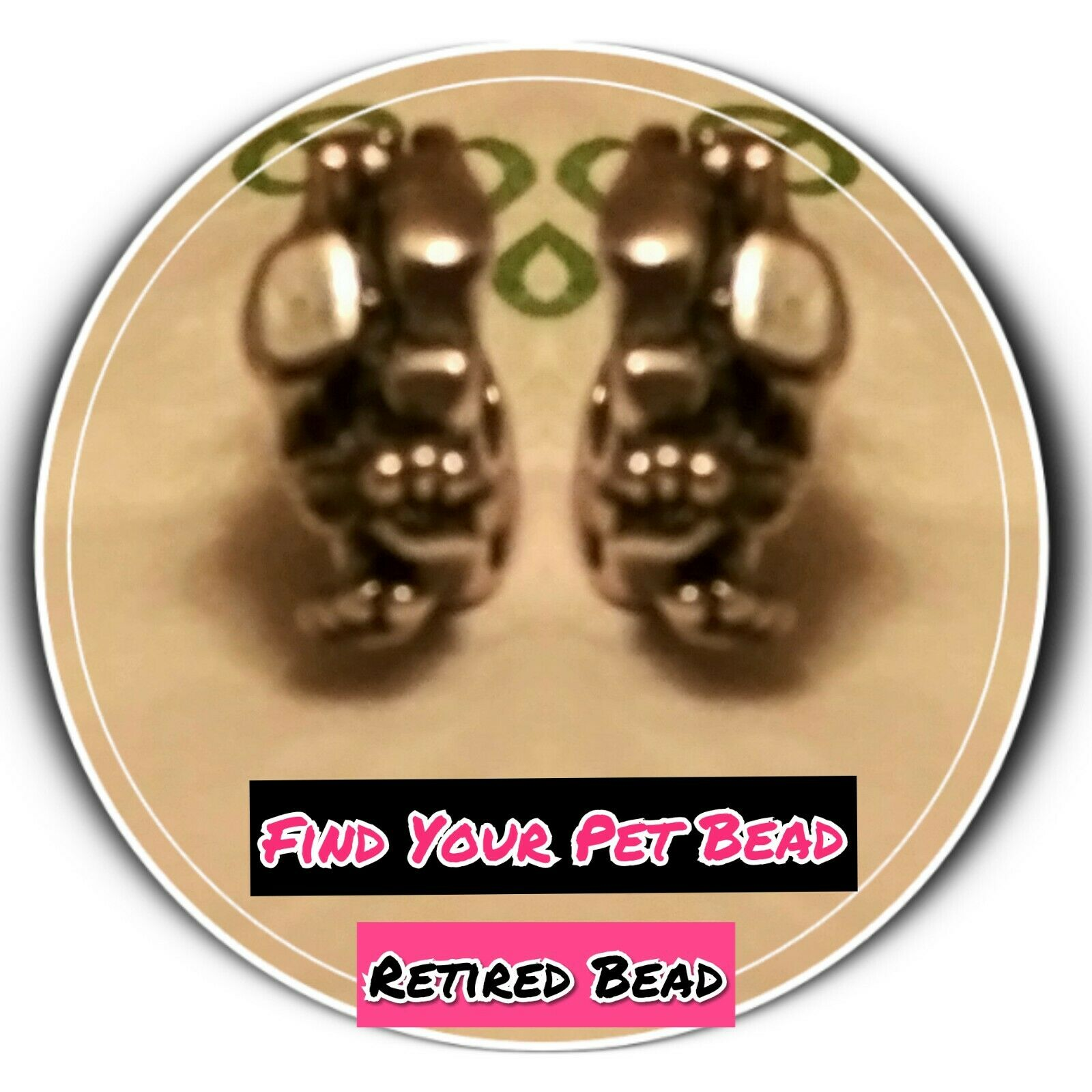 Trollbeads Authentic Find Your Pet Bead  Limited Quantity Retired Bead