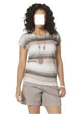 Shirt Streifen, BOYSEN'S, Gr.36/38, 80%Polyester,20%Viskose, neu