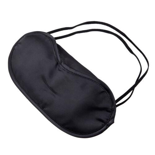 10 x Eye Mask Shade Cover Blindfold Night Sleeping Black S* H8U5
