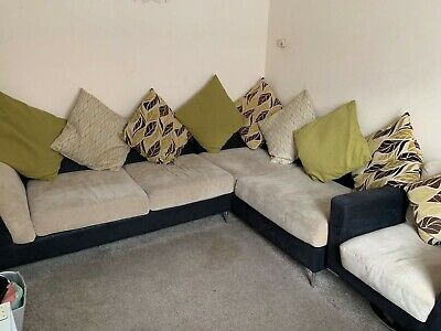 L Shaped Sofa And Armchair Suite