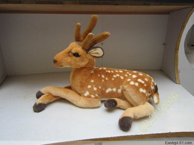 80cm 31'' Plush Stuffed Simukation Deer Toy Baby Doll Sika Xmas Party Kids Gifts