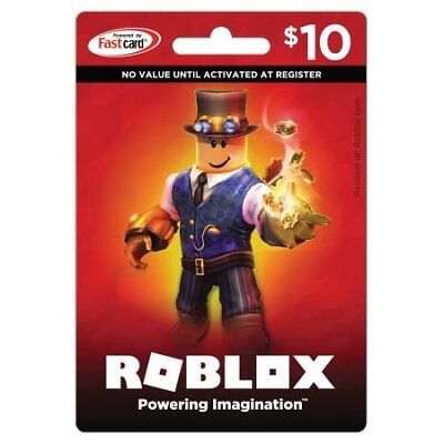 A Roblox Gift Card Physical Online 10 Dollar Value For Robux Fast