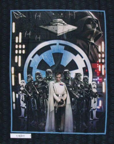 Patchwork Quilting Sewing Fabric STAR WARS ROUGE ONE Panel 90x110cm New