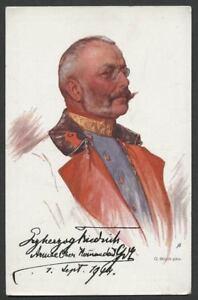 1914-WWI-Propaganda-Postcard-ARCHDUKE-FRIEDRICH-Austro-Hungarian-Army-Commander