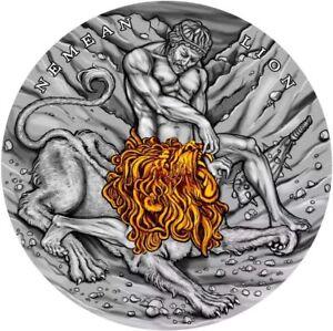 Niue-2018-Nemean-Lion-TWELVE-LABOURS-OF-HERCULES-2-Oz-5-Silver-Coin