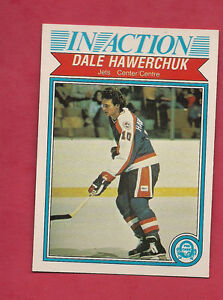1982-83-OPC-381-JETS-DALE-HAWERCHUK-IN-ACTION-ROOKIE-EX-MT-CARD
