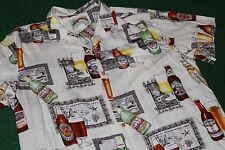 Original Made in Honolulu Hawaii~Paradise Found~BEER Shirt Rayon Dress 90's VTG