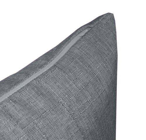 Qh12a Grey Thick Cotton Blend Style Cushion Cover//Pillow Case Custom Size