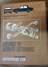 Autobook Workshop Manual 205 RENAULT 12 1969-1971