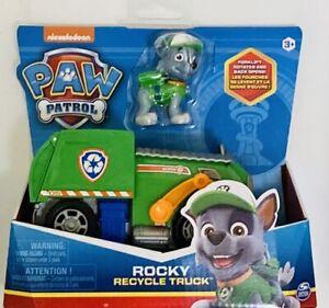 NIB Nicklelodeon Paw Patrol Rocky Recycling Truck Vehicle Figure Toy