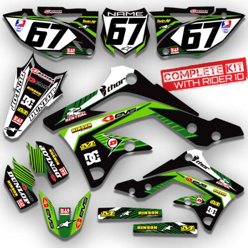 2013 2014 2015 KXF 450 GRAPHIC KAWASAKI MOTOCROSS RIDGELINE GREEN GREEN DECAL