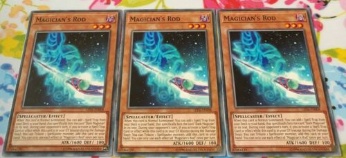 3 x Magician/'s rod LED6-EN008 Unlimited Edition YuGiOh NEW