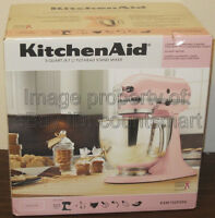 NEW KitchenAid Artisan Series 5 Qt Stand Mixer KSM150PS Light Pink Tilt Head