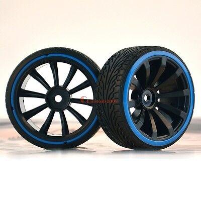4PCS RC 1:10 Car On-Road Wheel Rims & Drift Tyre,Tires Fit HSP HPI 601-5015
