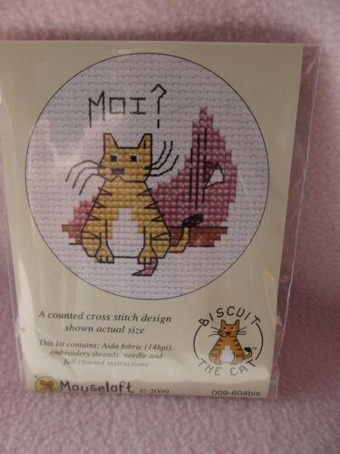 ~ nuevo Mouseloft stitchlets Cross Stitch Kit ~ Galleta El Gato ~ Moi