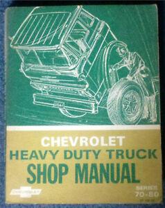 1969 Chevrolet Heavy Duty Truck Shop Manual Series 70-80