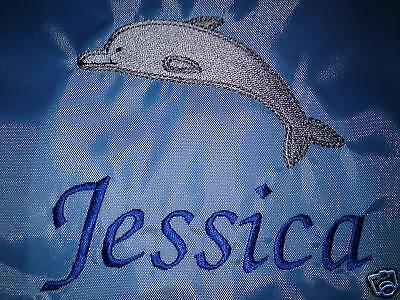 Personalizzata Delfino Nuoto / Scuola / Pe Custodia A Coulisse-l/pe Drawstring Bag It-it Mostra Il Titolo Originale