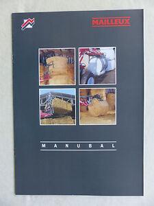 Mailleux Manubal-rundballen Ensilage Ballots-prospectus Brochure (0874-afficher Le Titre D'origine