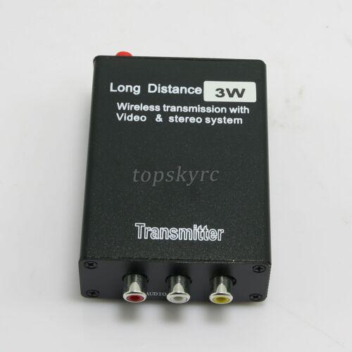 2.4GHz 3W 8CH AV Wireless Transmitter /& Receiver Long Range TX+RX with Adapter
