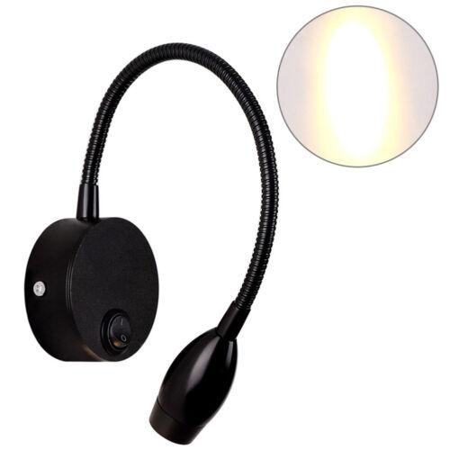 KF/_ Wall Mount LED Lamp Switch Bendable Tube Bedroom Bedside Reading Light Gif
