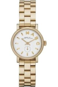 NEW-MARC-JACOBS-WOMEN-MBM3247-ROUND-DIAL-STAINLESS-GOLD-BAND-WATCH