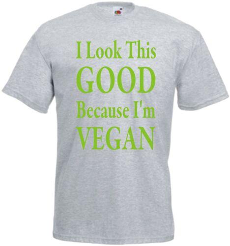T-shirt vegan je regarde cette bonne parce que je suis vegan top Cadeau D/'anniversaire Noël