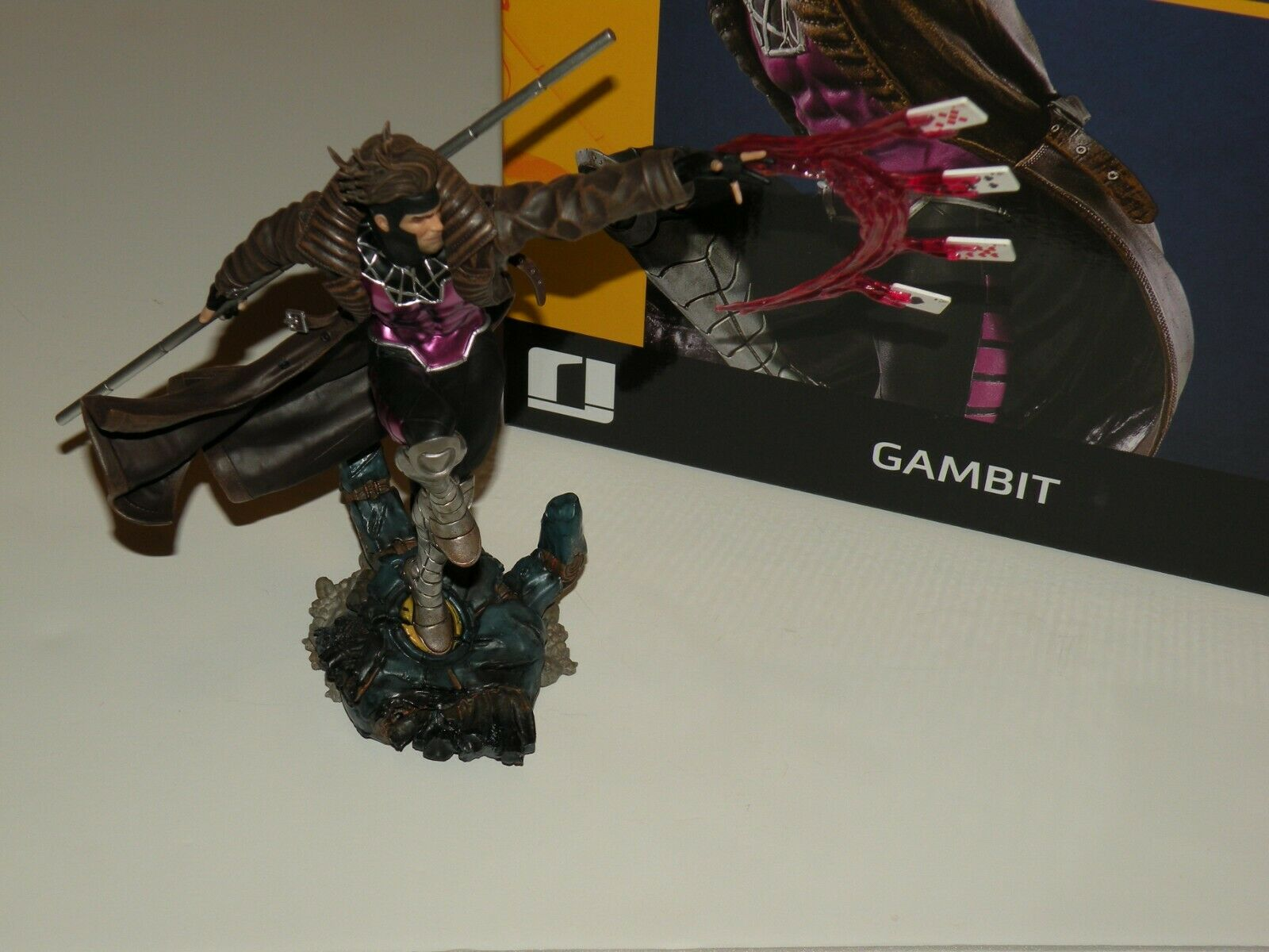 IRON STUDIOS Marvel X-Men GAMBIT 2021 1/10 Scale Polystone Statue ~ SOLD OUT  on eBay thumbnail