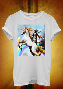 Crazy-Cat-Unicorn-Rainbow-Funny-Hombre-Mujer-Unisex-T-Shirt-Tank-Top-Chaleco-1288