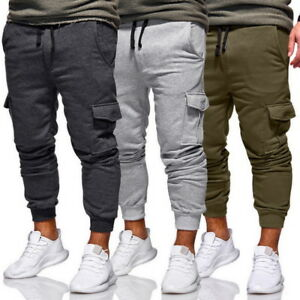 133a390ff93 Hip-Hop Mens Sport Pants Long Trousers Casual Bottoms Fitness ...