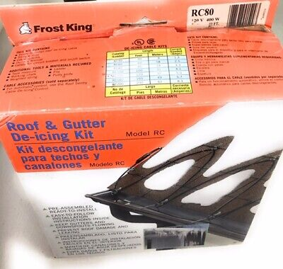 New Frost King Roof And Gutter De Icing Kit Rc 80ft S2 7