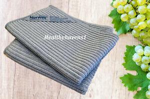 Norwex Kitchen Cloth and Towel Set Microfiber BacLock *Graphite*