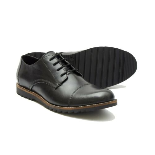 Lucini Mens Leather Boots Smart Formal Office Work Lace Up Shoes 6 to 12 UK