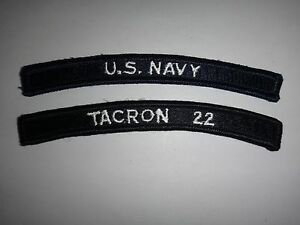 Lot-Of-2-US-NAVY-Patches-U-S-NAVY-TACRON-22