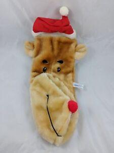Reindeer-Plush-Christmas-Stocking-Sack-17-034-Echiverri-amp-Co