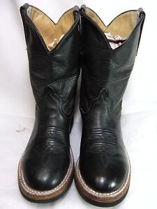 1252d86f15b Details about ANDERSON BEAN Childrens / Toddler Cowboy Boots Size 2 Black  Leather #239 OS