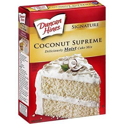 Duncan Hines Signature Cake Mix Coconut Supreme 15 25 Oz