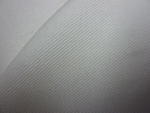 10mts GOOD QUALITY OFF WHITE// IVORY FIRE PROOF DRILL FABRIC 150cms WIDE