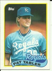 1989 TOPPS Baseball Card #56 Pat Tabler ROYALS