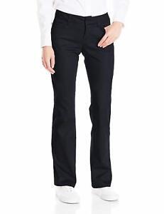 DICKIES GIRLS Black Slim fit Size 17// 34 Inseam Bootcut PANTS N882 THE WORKER