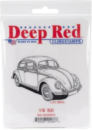 Deep Red Stamps VW Bug Rubber Cling Stamp