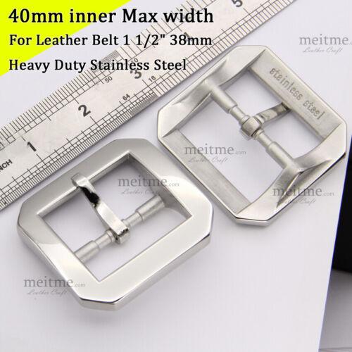 "Stainless steel Octagonal Belt Buckles Classical Pin Belt Buckle 1 1//2/"" 38mm"