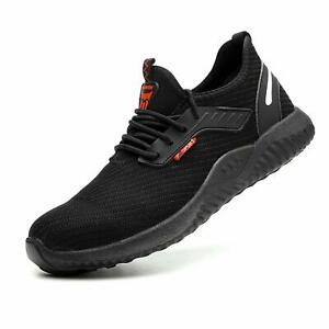 Mens Steel Toe Safety Shoes Trainers Work Boots Sports Hiking Shoes Sneakers-UK