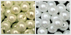White-or-Ivory-Glass-Pearl-Beads-Bridal-Wedding-Pearls-Bride-4mm-6mm-8mm-10mm-ML