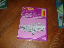 NEW OLD STOCK HAYNES MANUAL FOR DATSUN CHERRY N10. 1979 TO 1982.