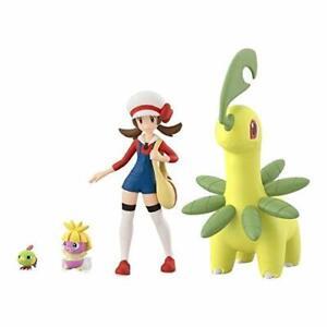 Pokemon-scale-World-Figure-Johto-region-Lyra-amp-Bayleef-amp-Natu-amp-Smoochum-Japan