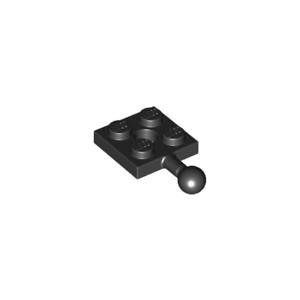 LOT-X3-Lego-Plaque-boule-2x2-plate-ball-NOIR-BLACK-6051038-15456