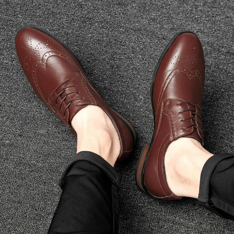 Mens Business Cross Strappy Leather Flats Pointed Toe Formal Wedding Dress shoes